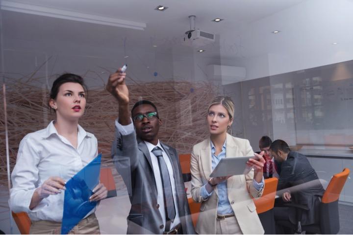 Team works together to make positive changes at work.