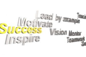 motivation and success terms in silver, yellow, and black