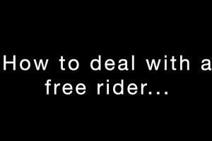 How To Deal With A Free Rider Youtube Screenshot