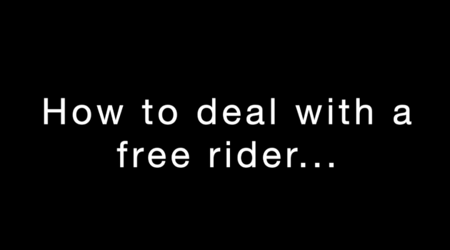 How to Deal with a Free Rider