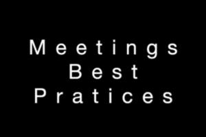 Meetings Best Practices