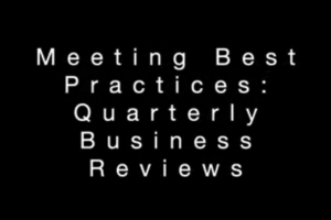 meetings best practices quarterly business review