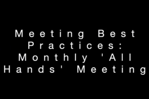 meetings best practices mothly all hands meeting by michael beach coaching and consulting